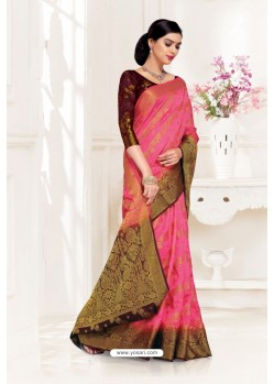 Rani Uppada Silk Party Wear Saree