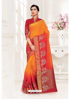 Adorable Red Uppada Silk Party Wear Saree
