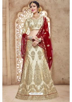 Golden Banglori Satin Silk Lehenga Choli