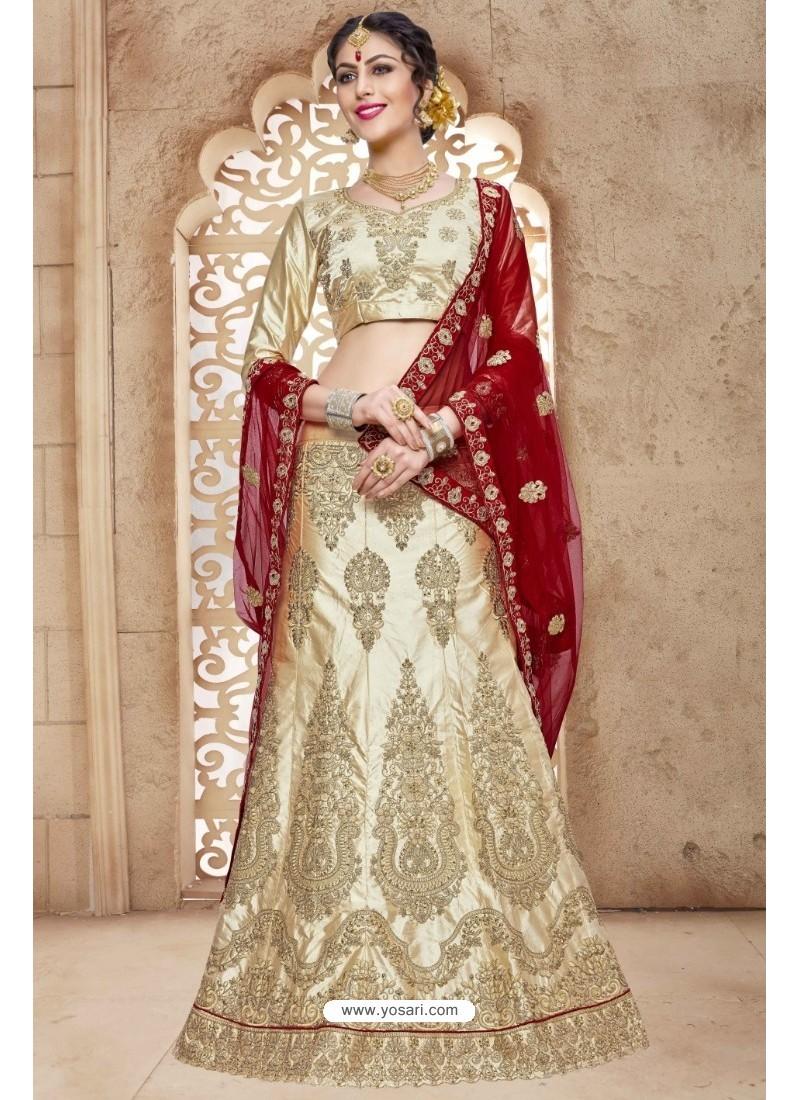 Golden Banglori Satin Silk Lehenga Choli