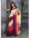 Multicolor Print Work Saree