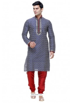 Feminine Blue Silk Kurta Pajama