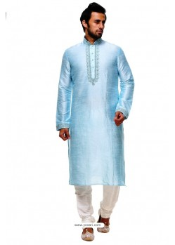 Magical Sky Blue Silk Kurta Pajama