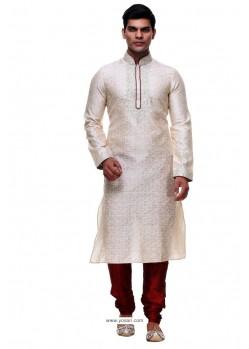 Competent Off White Silk Kurta Pajama