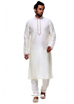 Marvelous Off White Silk Kurta Pajama