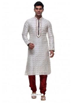 Radiant White Silk Kurta Pajama