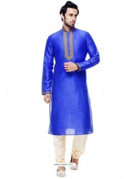 Observable Royal Blue Silk Kurta Pajama