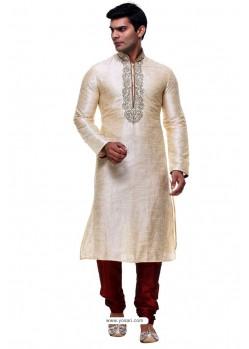 Phenomenal Golden Silk Kurta Pajama