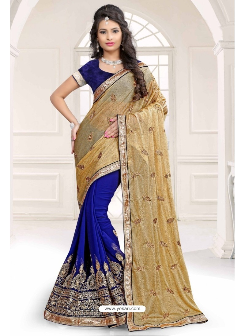 Fashionistic Beige Chiffon Saree