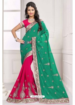 Perfect Fuchsia Georgette Saree