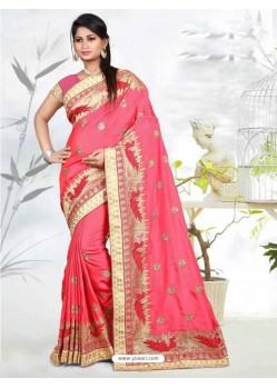 Fabulose Peach Silk Saree