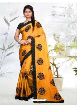 Stunning Yellow Silk Saree