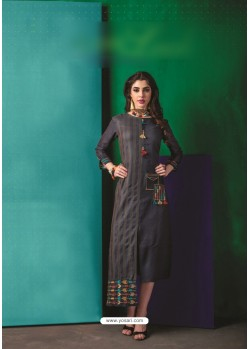 Carbon Cotton Embroidered Kurti