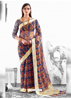Multi Colour Viscose Party Wear Saree