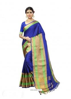 Dazzling Royal Blue Poly Silk Saree
