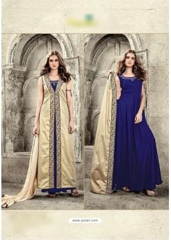 Blue Velvet Floor Length Suit