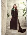 Deep Scarlet Velvet Floor Length Suit