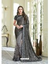 Carbon Net Embroidered Saree