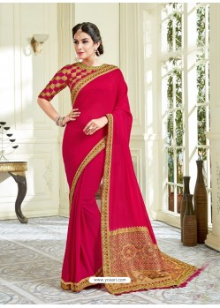 Crimson Imported Coated Embroidered Saree