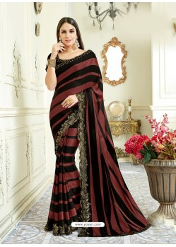 Multi Colour Imported Coated Embroidered Saree