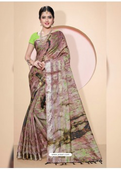 Multi Colour Kota Silk Cotton Casual Saree