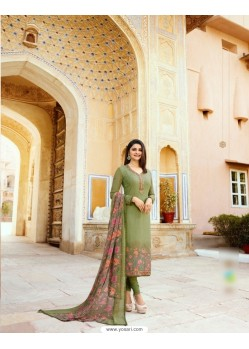 Mehendi Royal Crepe Embroidered Suit