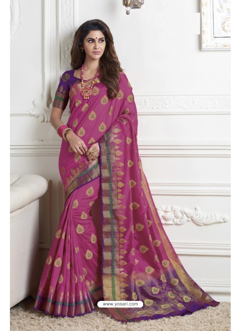 Gorgeous Pink Raw Silk Saree
