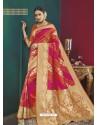 Fuchsia Banarasi Silk Designer Saree