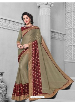 Markable Olive Green Saree