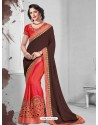 Exceptional Crimson Silk Saree
