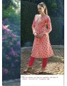 Pink Shade Color Printed Kurti