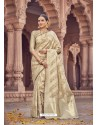 Beige Banarasi Silk Saree