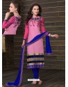 Multicolor Cotton Churidar Suit