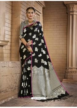 Admirable Black Silk Saree
