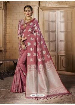 Fantastic Pink Silk Saree