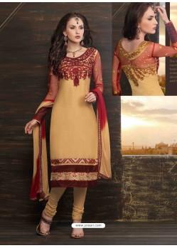 Mustard Cotton Churidar Suit