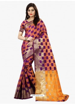 Graceful Multi Colour Banarasi Silk Saree