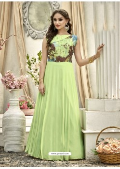 Beauteous Sea Green Gown