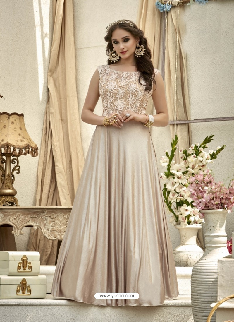 Girlish Beige Gown