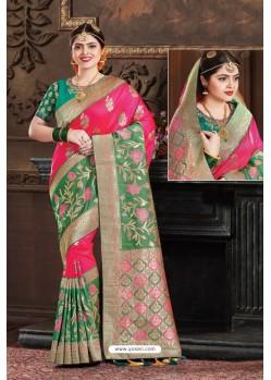 Rani Two Tone Art Silk Saree
