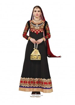 Black Hand Embroidery Work Anarkali Suit