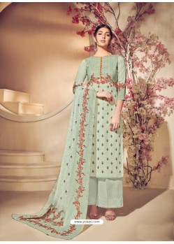 Olive Green Cotton Digital Printed Suit
