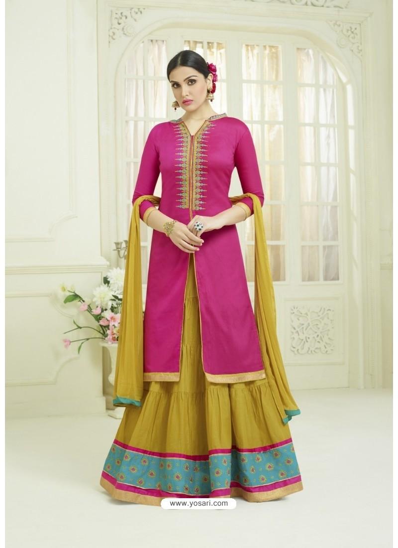 c62fad1ad2 Buy Pink Pure Cotton Embroidered Lehenga Suit   Designer Lehenga Choli