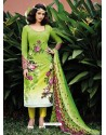 Green Lawn Cotton Salwar Kameez