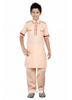 Beige Linen Cotton Kurta Pajama