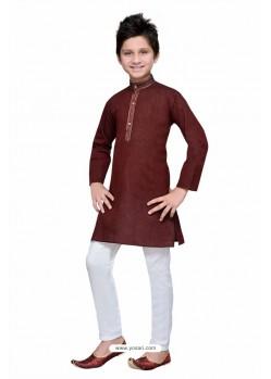Amazing Marron Cotton Kurta Pajama
