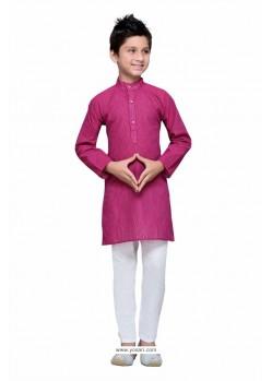 Adorable Fuchsia Cotton Kurta Pajama