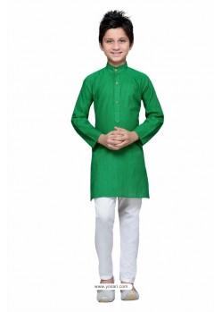 Lovely Green Cotton Kurta Pajama