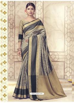 Sensational Carbon Silk Saree