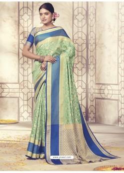 Glamorous Sea Green Silk Saree